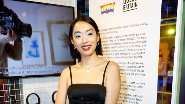 LONDON, ENGLAND - JUNE 24: Rina Sawayama attends the Queer Britain x Levi's 'Chosen Family' photography exhibition launch for Pride in London 2019 on June 24, 2019 in London, England. Work exhibited includes photography by four artists: Alia Romagnoli, Bex Day, Kuba Ryniewicz and Robert Taylor (Photo by David M. Benett/Dave Benett/Getty Images for Levi's)