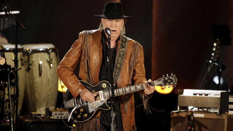Neil Young is taking legal action against President Trump. File pic