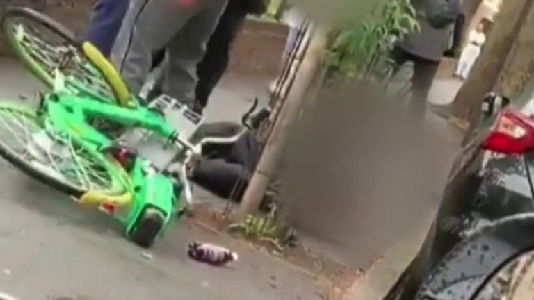 The officers were attacked in Hackney