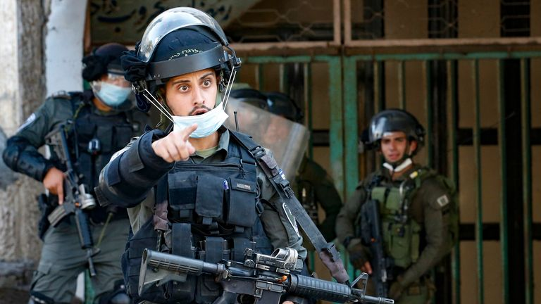 The Israeli security forces control over 60% of the West Bank