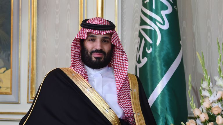 Saudi Arabia's Crown Prince Mohammed bin Salman is pictured while meeting with the Tunisian President during his arrival at the presidential palace in Carthage on the eastern outskirts of the capital Tunis on November 27, 2018. (Photo by FETHI BELAID / AFP)        (Photo credit should read FETHI BELAID/AFP/Getty Images)