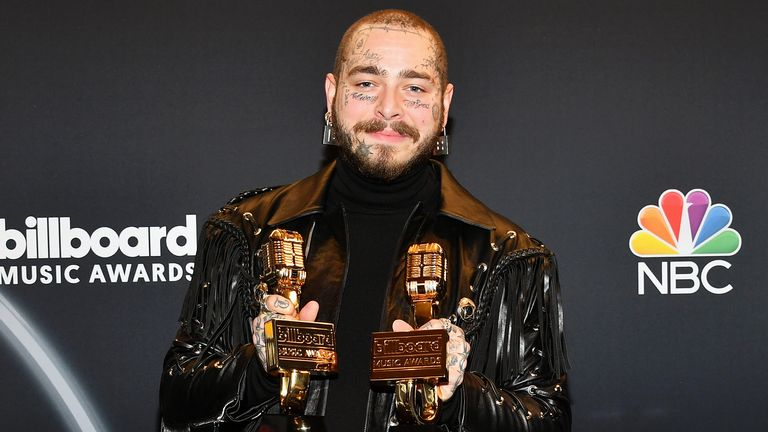 Post Malone was the man with all the prizes on Wednesday