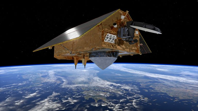 What Copernicus Sentinel-6 might look like over the Andes. Credit EU Space Agency